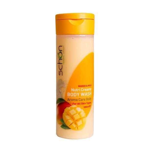 شامپو بدن کرمی مغذی شیر انبه شون مناسب انواع پوست 300 میلی لیتر