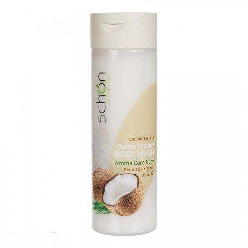 شامپو بدن کرمی مغذی شیر نارگیل شون مناسب انواع پوست 300 میلی لیتر