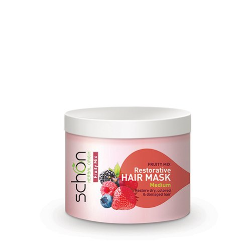 ماسک مو کاسه ای شون میوه ای فروتی میکس مناسب موهای خشک ، رنگ شده و آسیب دیده 300 میلی لیتر