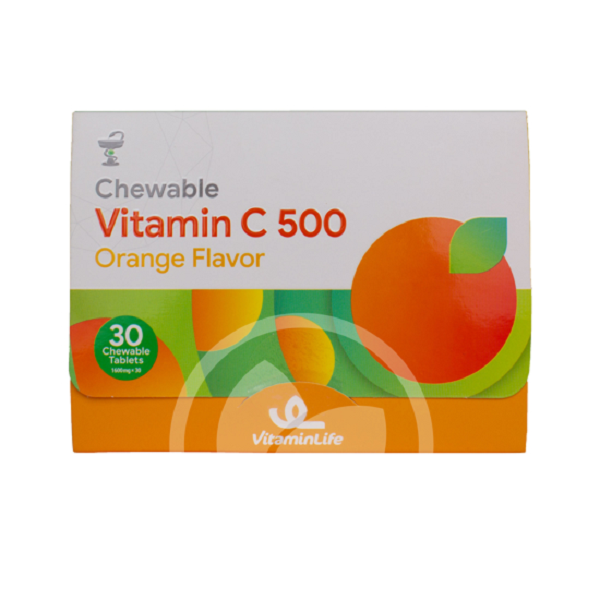 قرص ویتامین ث جویدنی 500 ویتامین لایف 30 عددی