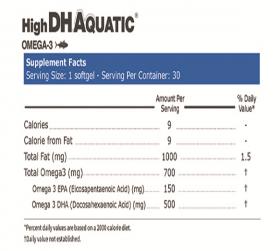 کپسول روغن ماهی حاوی DHA بالا آکواتیک کارن 30 عددی