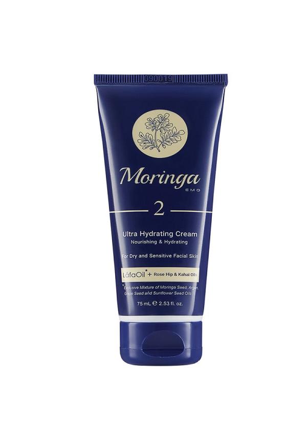 كرم آبرسان دست و صورت مورینگا امو مناسب پوست خشک و حساس کد 2 حجم 75 ميلی لیتر