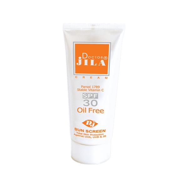 کرم ضد آفتاب دکتر ژیلا بی رنگ با SPF 30 حجم 30 گرم