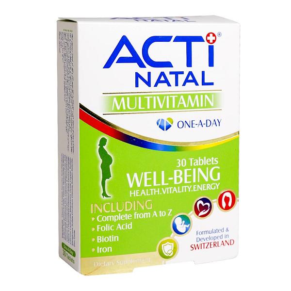 قرص مولتی ویتامین اکتی ناتال لیبرتی سوئیس 30 عددی