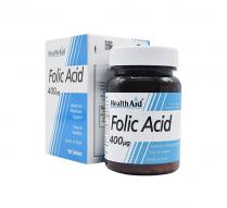 قرص فولیک اسید ۴۰۰ میکروگرم هلث اید ۹۰ عددی