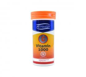 قرص جوشان ویتامین C 1000 میلی گرمی های هلث طعم پرتقالی 10 عددی