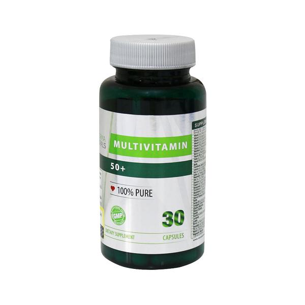 کپسول مولتی ویتامین بالای 50 سال نوفرما نچرالز 30 عددی