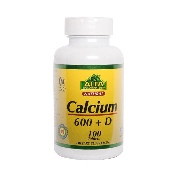 قرص کلسیم 600 و ویتامین D آلفا ویتامینز ۱۰۰ عددی