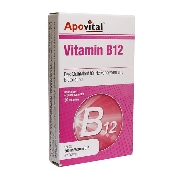قرص ویتامین B12 آپوویتال 30 عددی