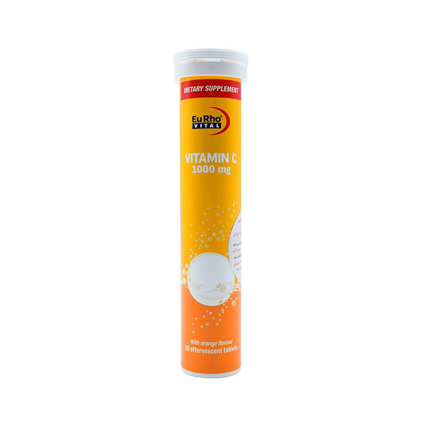 قرص جوشان ویتامین 1000 میلی گرم C یوروویتال 20 عدد
