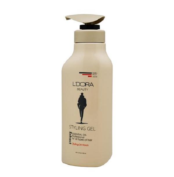 ژل حالت دهنده قوی موی سر کراتینه مردانه لدورا 500 گرم